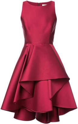 Halston layered ruffled skirt dress