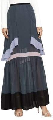 BCBGMAXAZRIA Yuliana Color-Blocked Maxi Skirt