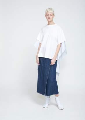 MM6 MAISON MARGIELA Jersey Poplin Combo T-shirt