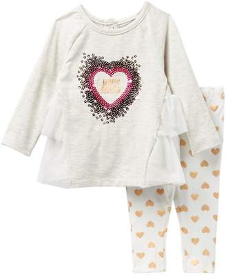 Juicy Couture Sequin Heart Tunic & Hearts Leggings Set (Baby Girls 12-24M)