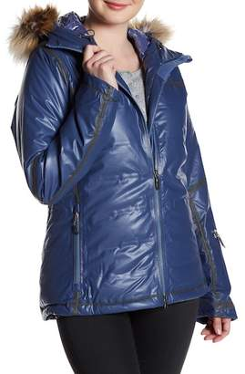 Columbia Outdry Diamond Heatzone Faux Fur Trim Jacket $750 thestylecure.com