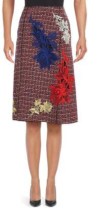 Marc Jacobs Women's Embroidered Tweed A-Line Skirt