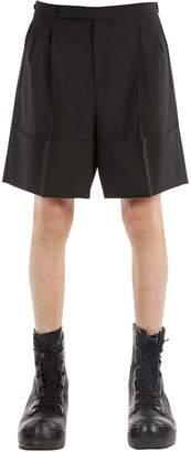 Raf Simons Wool Blend Shorts W/ Pleats
