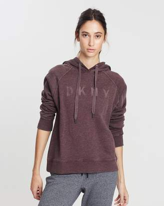 DKNY Hooded Boxy Sweatshirt