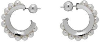 Sophie Buhai White Pearl Hoop Earrings