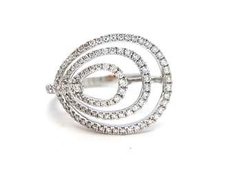 Djula Graphique white gold ring