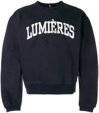 Oamc logo patch sweatshirt