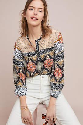Kachel Mosaic Silk Blouse