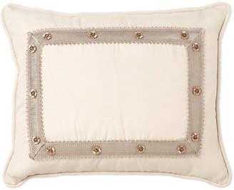 Waterford Linens Maura Floral Trim Decorative Pillow