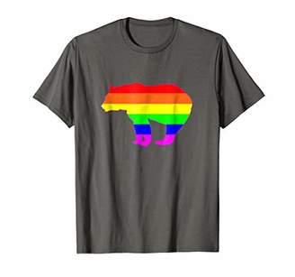 Mens Rainbow Flag Bear