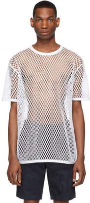 Burberry White Net T-Shirt
