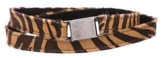Versace Ponyhair Printed Waist Belt