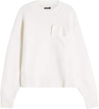 Jil Sander Navy Wool Pullover