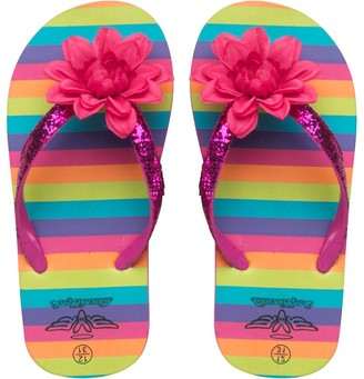 Board Angels Girls Striped Flip Flops Pink Multi