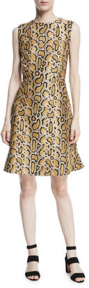 Etro Leopard-Print Sleeveless A-line Dress