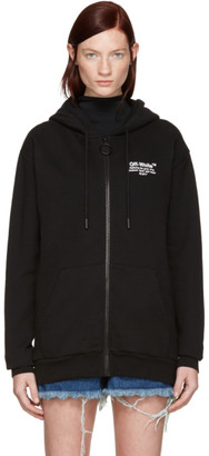 Off-White Black Off Zip Hoodie $545 thestylecure.com