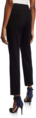 Donna Degnan Mid-Rise Straight-Leg Ponte Pants