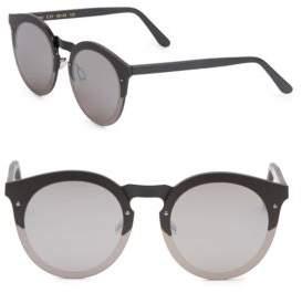 Illesteva Palermo 49MM Matte Round Sunglasses