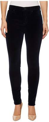 Hudson Barbara High-Waist Super Skinny Velvet Jeans in Dark Obsidian Women's Jeans