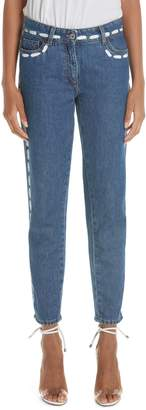 Moschino Dotted Line Straight Leg Jeans