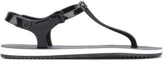 Calvin Klein T-bar flat sandals $94.78 thestylecure.com