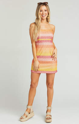 Show Me Your Mumu Clarissa Dress ~ Fiesta Sunset Stripe
