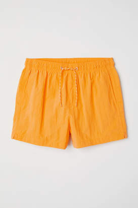 H&M Short Swim Shorts - Yellow