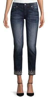 Miss Me Jeweled Bottom Ankle Skinny Jeans