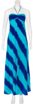 MICHAEL Michael Kors Silk Halter Dress