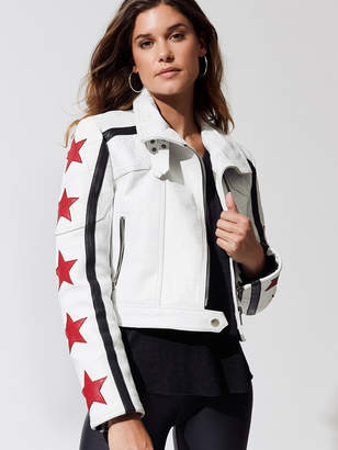 Free People Movement STAR POWER LEATHER JACKET