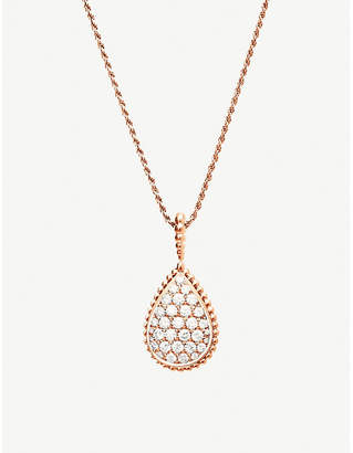 Boucheron Serpent Bohème 18ct pink-gold and diamond necklace