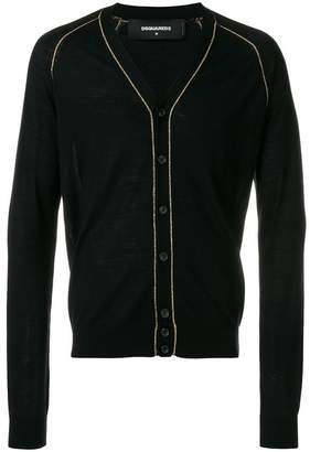 DSQUARED2 lurex piped cardigan