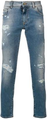 Dolce & Gabbana slim distressed jeans