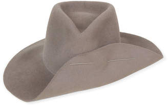 CLYDE Wide Brim Pinch Hat With Pin