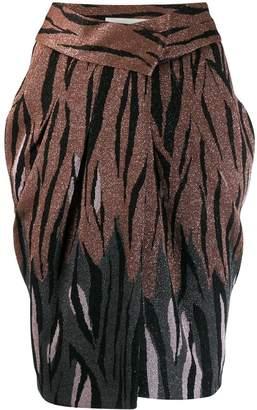 Circus Hotel glittery animal print skirt