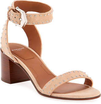 Givenchy Split Suede Studded Sandals