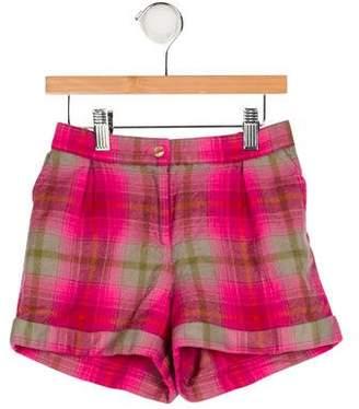 Oscar de la Renta Girls' Plaid Wool Shorts