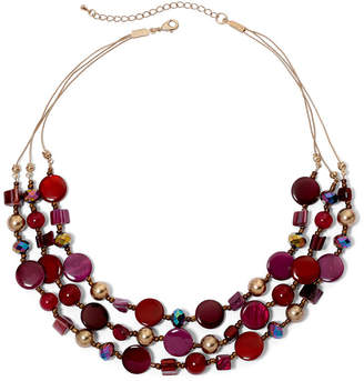 JCPenney MIXIT Mixit Mixed Berry 3-Row Illusion Necklace