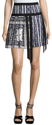 cinq a sept Amory Silk A-line Skirt, Multi $375 thestylecure.com