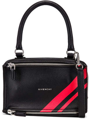 Givenchy Red Stripe Small Pandora Bag in Black & Red | FWRD