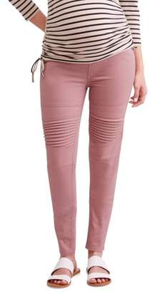 Liz Lange Maternity Over The Belly Skinny Moto Jegging