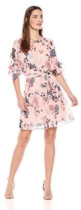 Vince Camuto Women's Floral Print Chiffon Dress