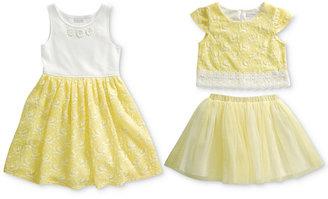 Sweet Heart Rose 3-Pc. Dress, Top & Skirt Set, Little Girls (2-6X) $58 thestylecure.com