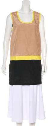 Robert Rodriguez Silk-Blend Colorblock Tunic