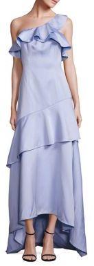 ZAC Zac Posen Ruffled One-Shoulder Gown $890 thestylecure.com
