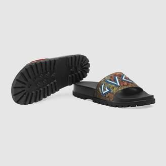 Gucci Floral brocade slide sandal