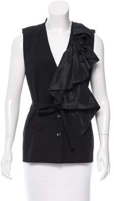 Tome Ruffle-Trimmed Belted Vest w/ Tags
