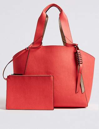 Marks and Spencer Faux Leather Reversible Shopper Bag
