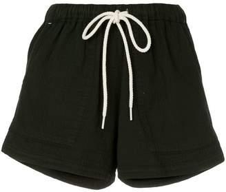 Bassike washed herringbone beach shorts