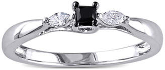 Black Diamond MODERN BRIDE Midnight 1/4 CT. T.W. White and Color-Enhanced Engagement Ring